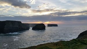 Kilkee Cliffs in evening sun