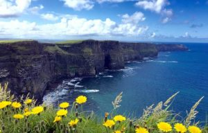 Cliffs of Moher on a typical day
